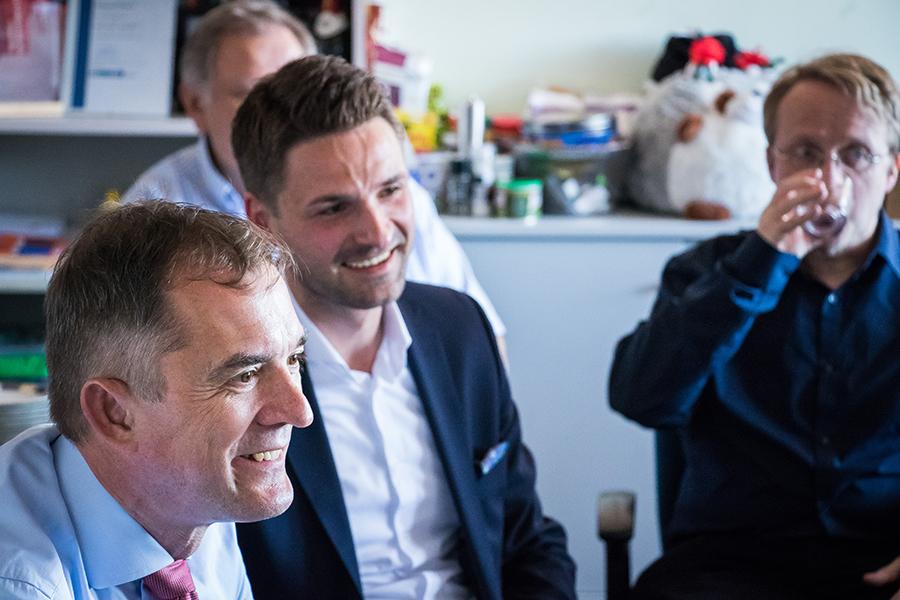 Bildungsminister Marco Tullner besucht Start-up der Universität Magdeburg 3